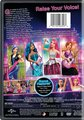 barbie in Rock 'N Royals - The Back of The DVD Disc