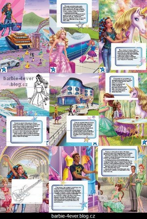 Barbie in Rock'n Royals Czech Book 1 - Preview!!!
