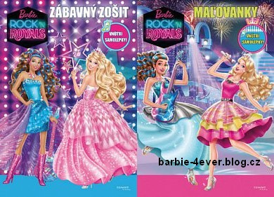 Barbie Movies wallpaper probably with anime titled Barbie in Rock'n Royals Slovak Books!