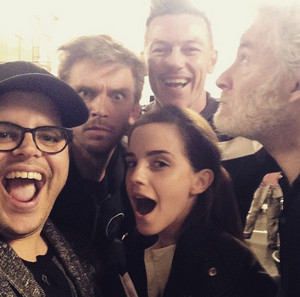 Beauty and the Beast (2017) cast selfie