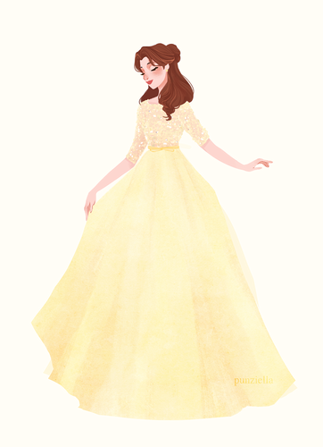 Disney Extended Princess Hintergrund possibly containing a crinoline, a hoopskirt, and a kleid entitled Belle