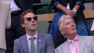 Benedict and Timothy at Wimbledon