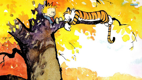 Calvin & Hobbes wallpaper probably with anime entitled Calvin and Hobbes