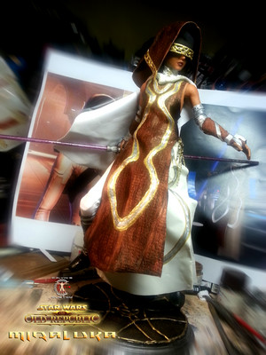 Calvin's Custom 1:6 one sixth scale SWTOR Miraluka custom Figure