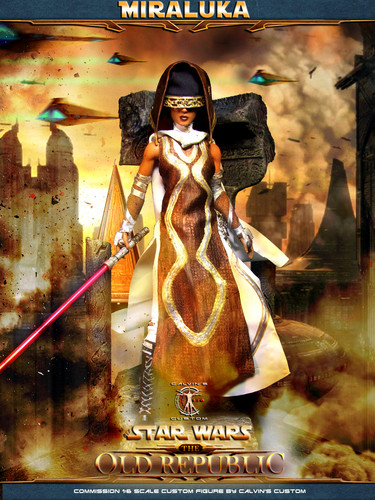 Star Wars wallpaper possibly containing a street called Calvin's Custom 1:6 one sixth scale SWTOR Miraluka custom Figure