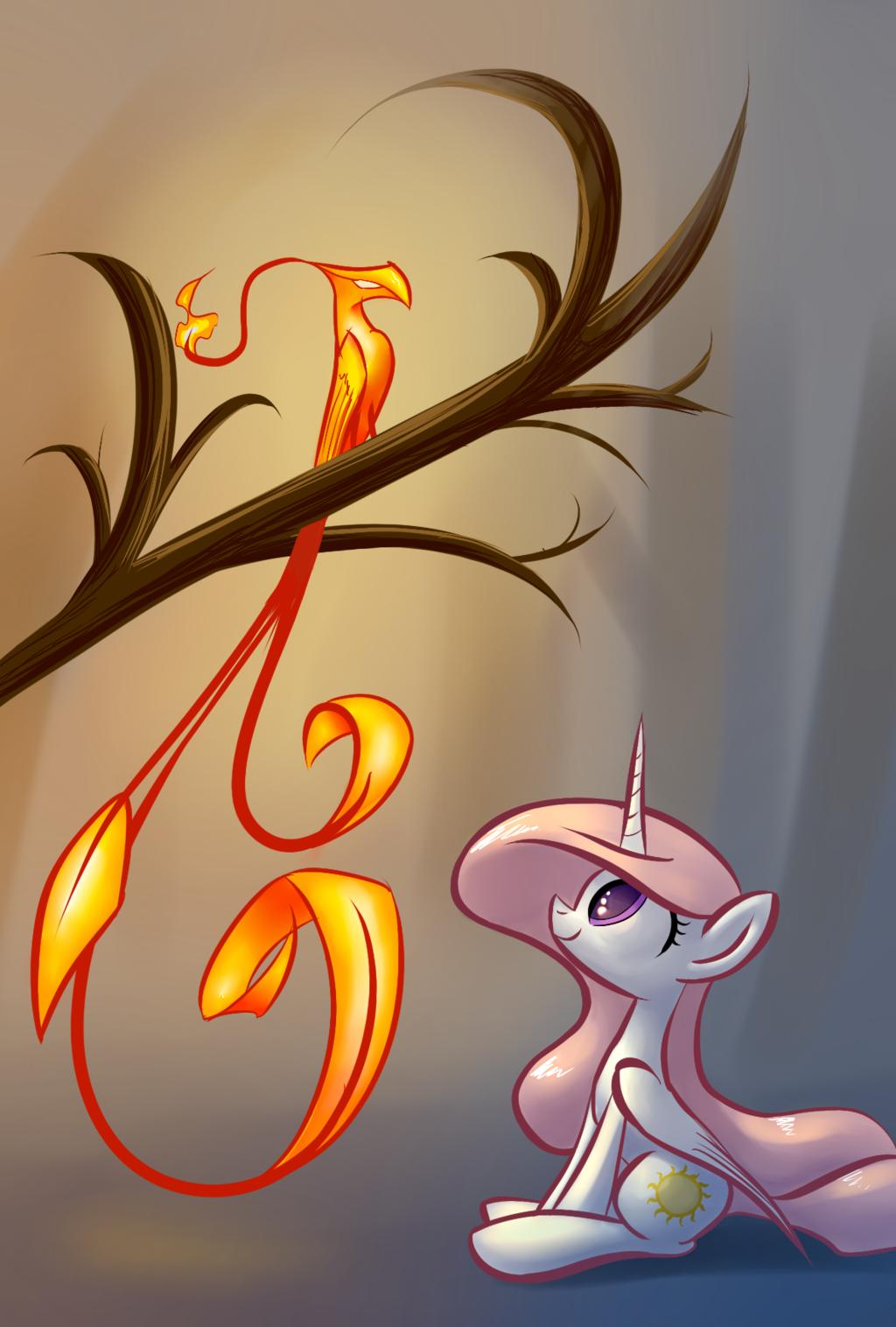 Celestia-and-Philomena-my-little-pony-fr