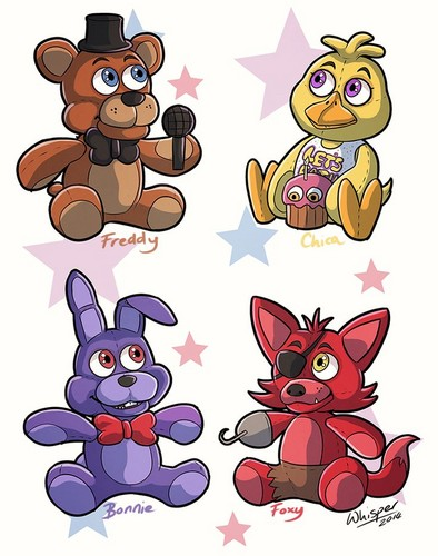 Five Nights at Freddy's kertas dinding titled Cute FNAF Characters