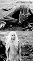 Daenerys Targaryen and Drogon - game-of-thrones fan art