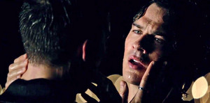 Damon and Kai's Rain Scene Kiss