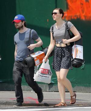 Daniel Radcliffe & Erin boutique for Yoga Mats in New york,July 2 (Fb.com/DanieljacobRadcliffeFanClub)