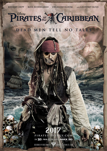 piratas del caribe fondo de pantalla containing anime entitled Dead Men Tell No Tales Movie Poster