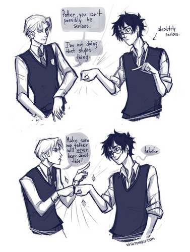 Harry Potter kertas dinding containing Anime entitled Drarry