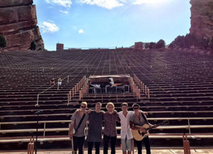 Ed with Rixton at Red Rocks