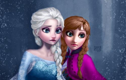 Elsa the Snow क्वीन वॉलपेपर called Elsa and Anna
