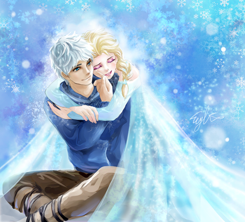 frozen images elsa and jack frost wallpaper and background
