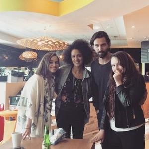 Emilia Clarke, Nathalie Emmanuel and Michiel Huisman @Belfast