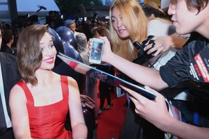 Emilia Clarke at a Terminator Event in Tokyo