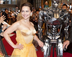 Emilia at the টারমিনেটর premiere