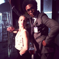 Emily on Set - Season 4 - emily-bett-rickards photo