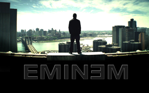 EMINEM wallpaper containing a business district and a business suit entitled Eminem