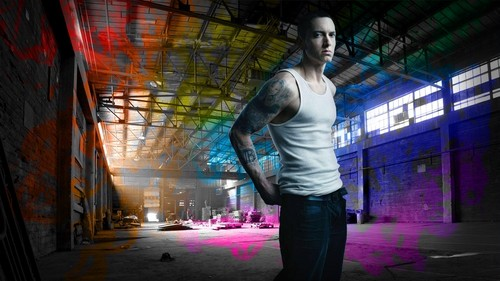 eminem wallpaper with a business suit, a street, and a well dressed person entitled eminem