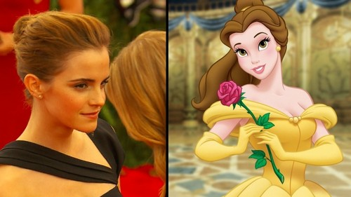 emma watson fondo de pantalla probably with a bouquet and a portrait called Emma / Belle