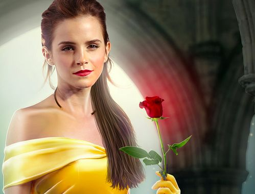 Emma Watson wolpeyper containing a bouquet entitled Emma Watson,Belle / Beauty and the Beast