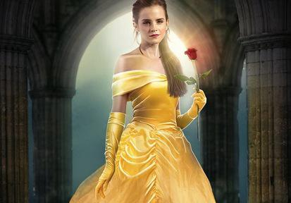 Emma Watson Hintergrund containing a gown, a bridal gown, and a abendessen dress called Emma Watson as Belle