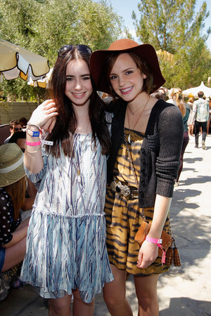 Emma and Lily Collins