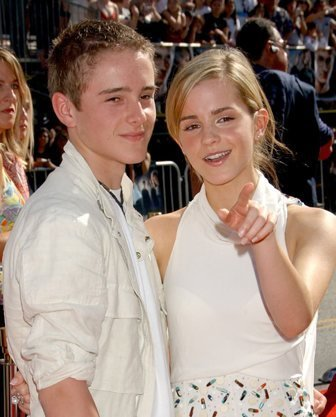 Emma Watson wallpaper probably containing a portrait titled Emma and her brother,Alex