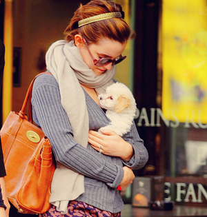 Emma and puppy
