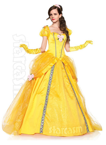 Emma Watson wallpaper possibly containing a gown, a hoopskirt, and a dinner dress entitled Emma as Disney's Belle