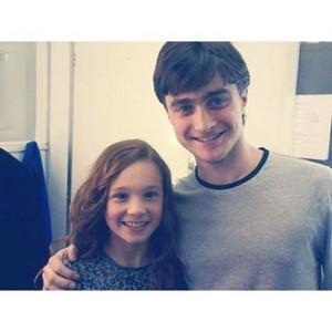 Exclusive pic: Harry Potter & Lily Evans Potter' (Fb.com/DanieljacobRadcliffeFanClub)