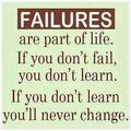 Failing is accepting in life - quotes photo