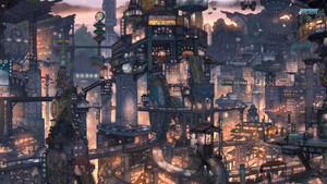 Fantasy Eastern City