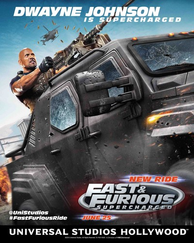 Fast and Furious wallpaper called Fast and Furious: Supercharged Poster - Dwayne Johnson