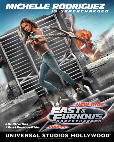 Michelle Rodriguez fond d'écran probably containing an internal combustion engine and animé called Fast and Furious: Supercharged Poster - Michelle Rodriguez