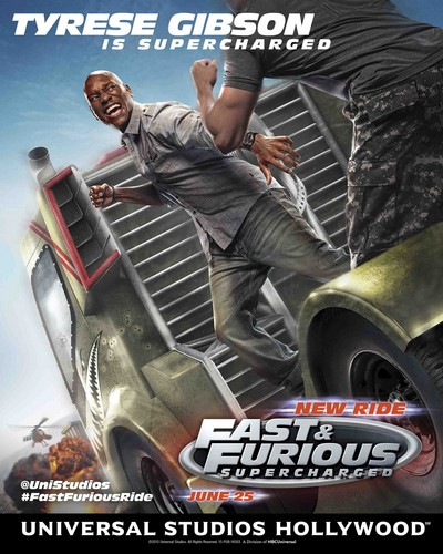 Fast and Furious wallpaper called Fast and Furious: Supercharged Poster - Tyrese Gibson