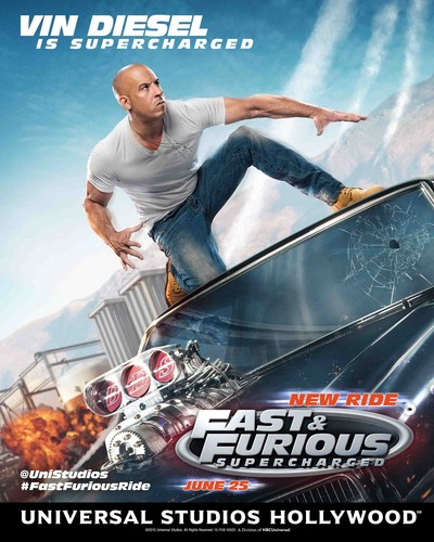 Fast and Furious wallpaper possibly containing a barrow called Fast and Furious: Supercharged Poster - Vin Diesel