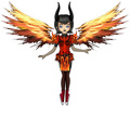 Flaming Armor Mavis - hotel-transylvania fan art