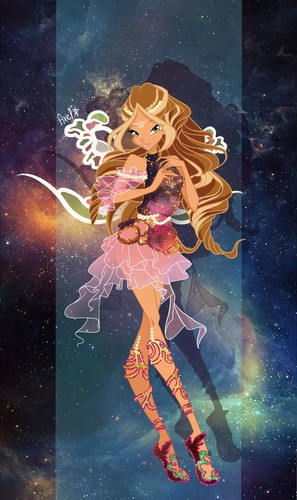 The Winx Club پیپر وال probably with عملی حکمت titled Flora Axelix
