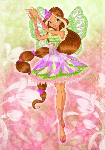 o clube das winx wallpaper probably containing a rose titled Flora Butterflix