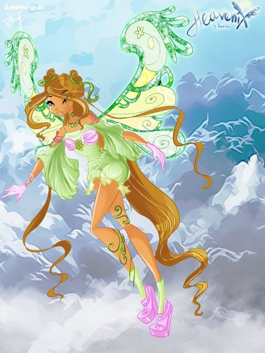 Winx Club wallpaper probably with Anime entitled Flora Heavenix
