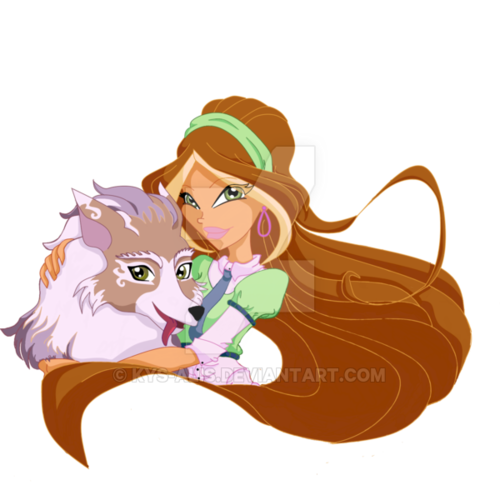 Winx Club hình nền entitled Flora and Amarok