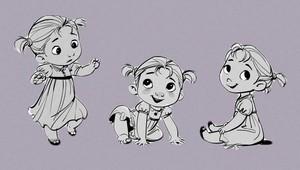 Frozen Concept Art - Baby Anna