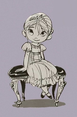 《冰雪奇缘》 Concept Art - Young Elsa