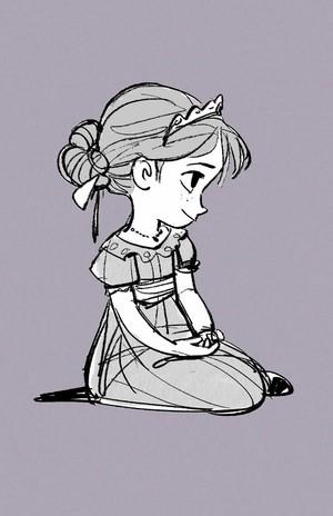Холодное сердце Concept Art - Young Elsa