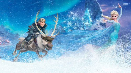 disney wallpaper possibly with caribou entitled Frozen - Uma Aventura Congelante