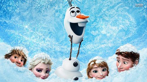 Elsa und Anna Hintergrund probably containing a bouquet and a straße called Frozen