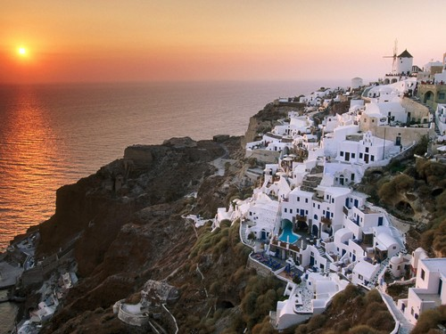Greece वॉलपेपर possibly with a business district entitled GREECE